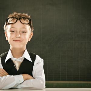 beautiful arms crossed school student kid portrait with blackboard